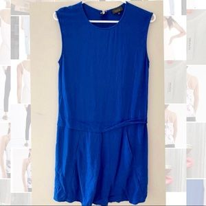 Aritzia Talula Royal Blue 100% Silk Dress - Size 2